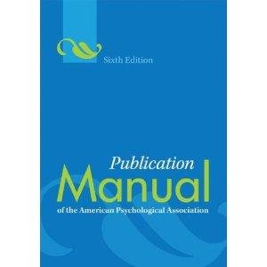 APA 6th ed. Publication Manual