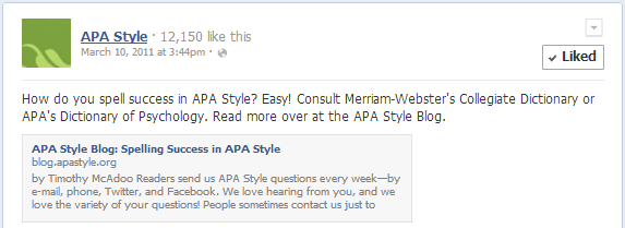 Apa Style 6th Edition Blog Websites