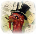 Vintage-thanksgiving-clip-art-turkey-in-top-hat-with-restaurant-menus