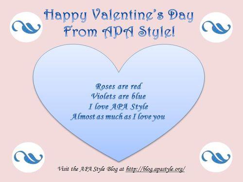 APA Style Valentine's Day Card
