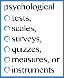 how to cite psychological tests in APA Style: http://blog.apastyle.org/apastyle/2014/02/how-to-cite-a-psychological-test-in-apa-style.html