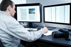 Typesetter at Work