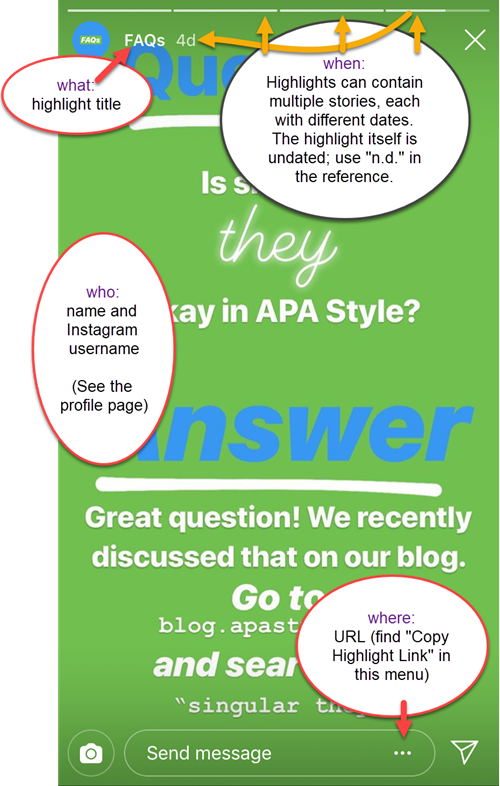 Apa Style Blog Ig Highlight Annotated