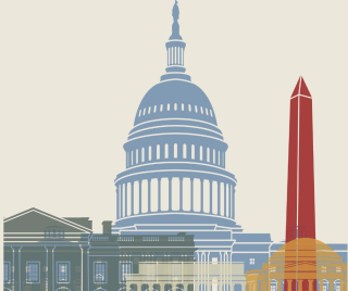Washington-dc-skyline-poster-vector-id497540078